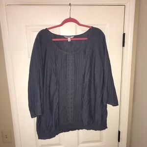 Old Navy 3x chambray top with detail